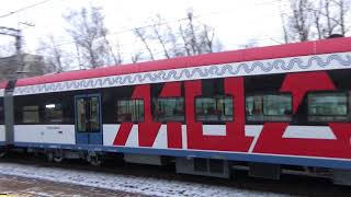 Электропоезд Иволга на станции МЦД Дегунино - 12.01.2020