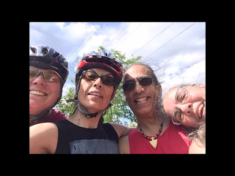 My Wife and I Riding the W&OD Trail with My Sister and Her Friend