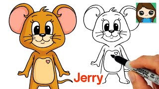 How to Draw Jerry Mouse | Tom & Jerry