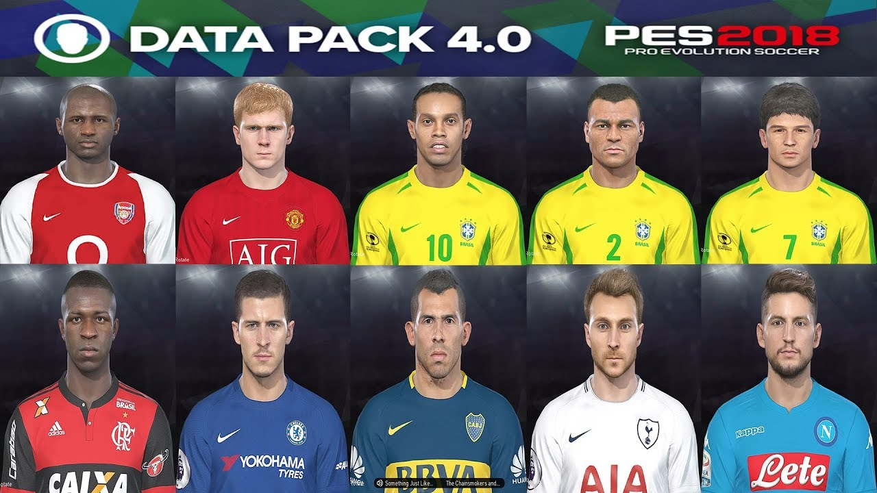 PES 2018 Data Pack 4 0 - All New and Updated Faces + Tattoo + Link Download  Legends