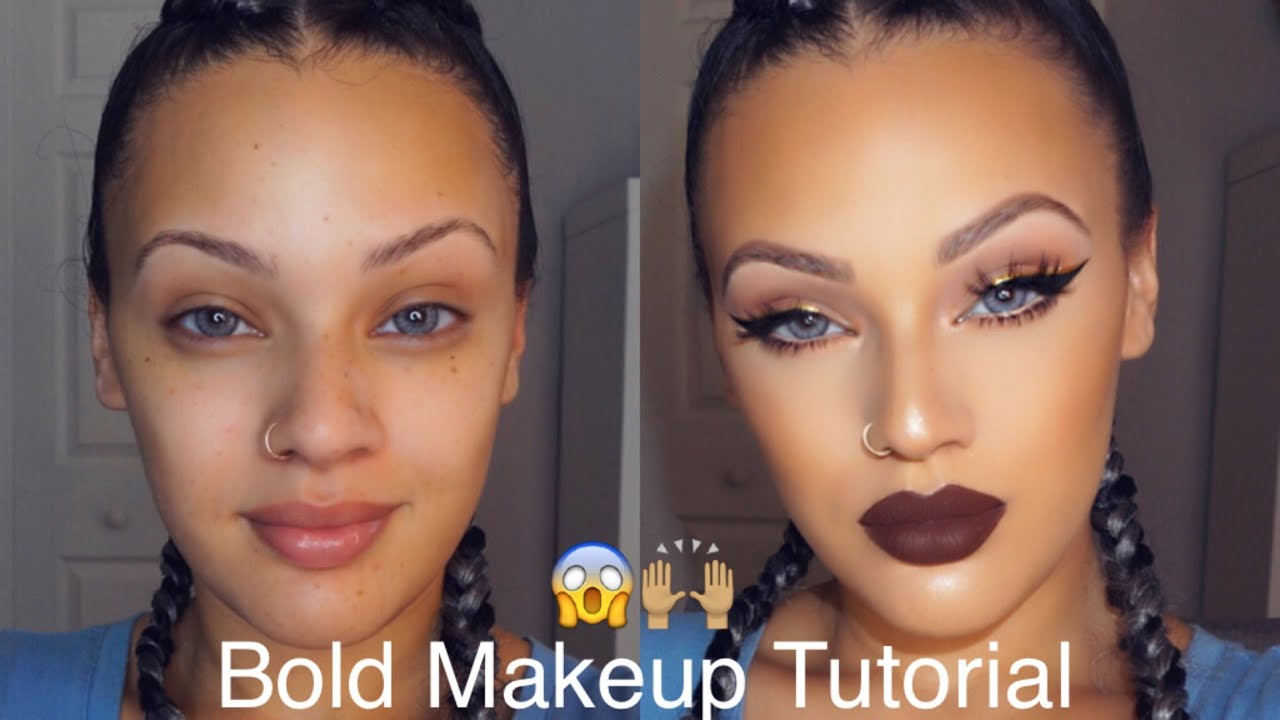 bold makeup tutorial viva glam kay youtube