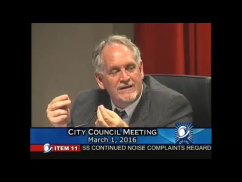 March 1, 2016 Cupertino City Council Council Deliberation on Noise from Lehigh