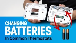 How to Replace Thermostat Batteries