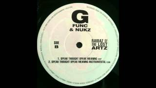 G Func & Nukz - Speak Thought Speak Meaning