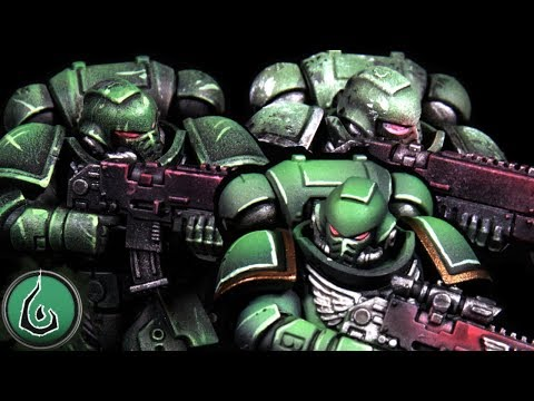 Painting Tutorial WH40K Dark Angels 3 Quick Effective Color Schemes!