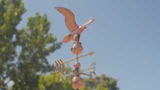 Good Directions 1776p American Eagle Weathervane - Polished Copper