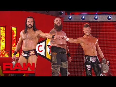 Braun Strowman, Dolph Ziggler & Drew McIntyre mock The Shield: Raw Exclusive, Sept. 3, 2018
