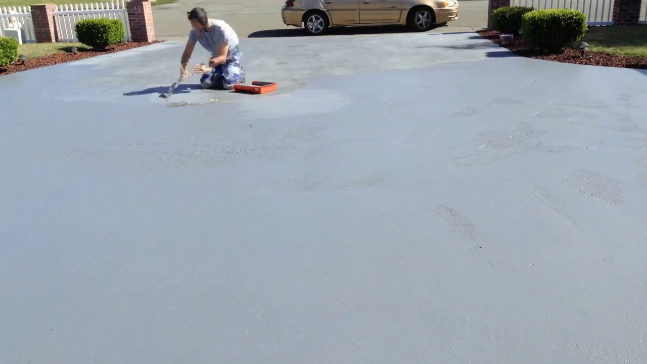 Behr Premium Epoxy Driveway Painting Timelapse Youtube