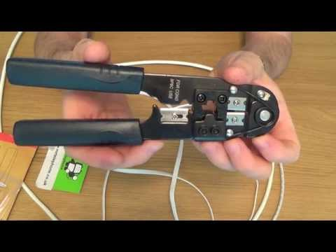 How To use a RJ45 Crimp Tool, Crimping tool for CAT5 / CAT6 Ethernet 8P8C Plugs.
