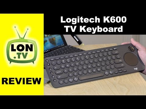 fe10ea1a17f Logitech K600 TV Keyboard with Integrated Trackpad Review - YouTube