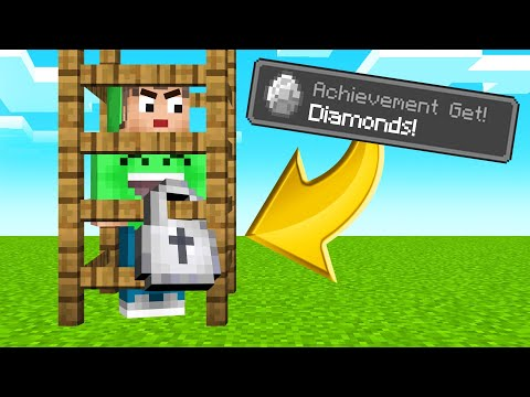 FIND DIAMOND To Escape The CAGE! (Minecraft)