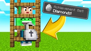 find-diamond-to-escape-the-cage-minecraft