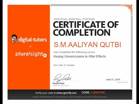 My Digital Tutors and Udemy Certificates - YouTube