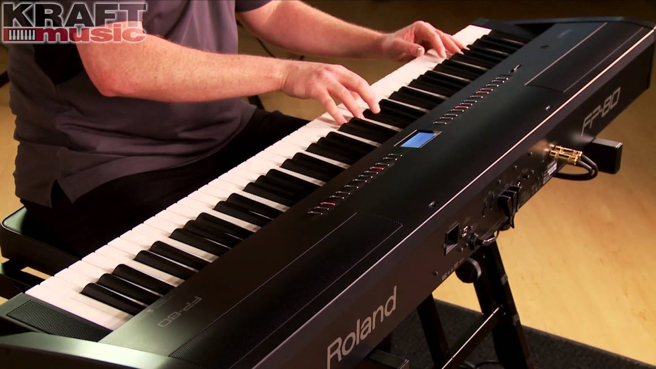 kraft music roland fp 80 performance with james day youtube. Black Bedroom Furniture Sets. Home Design Ideas