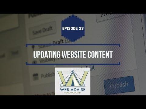 Episode 23: Updating Website Content