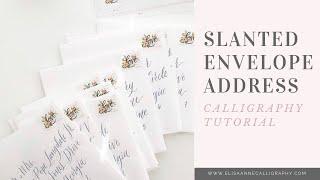 Light Pad Method for Slanted Calligraphy Envelope Addressing