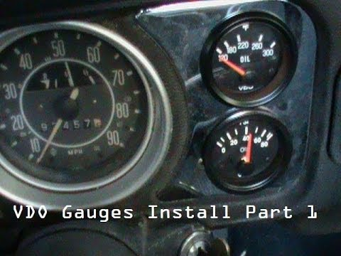 vdo temperature gauge wiring diagram 2003 buick century gauges in a volkswagen beetle schematic today oil pressure temp part 1 youtube instument bulbs