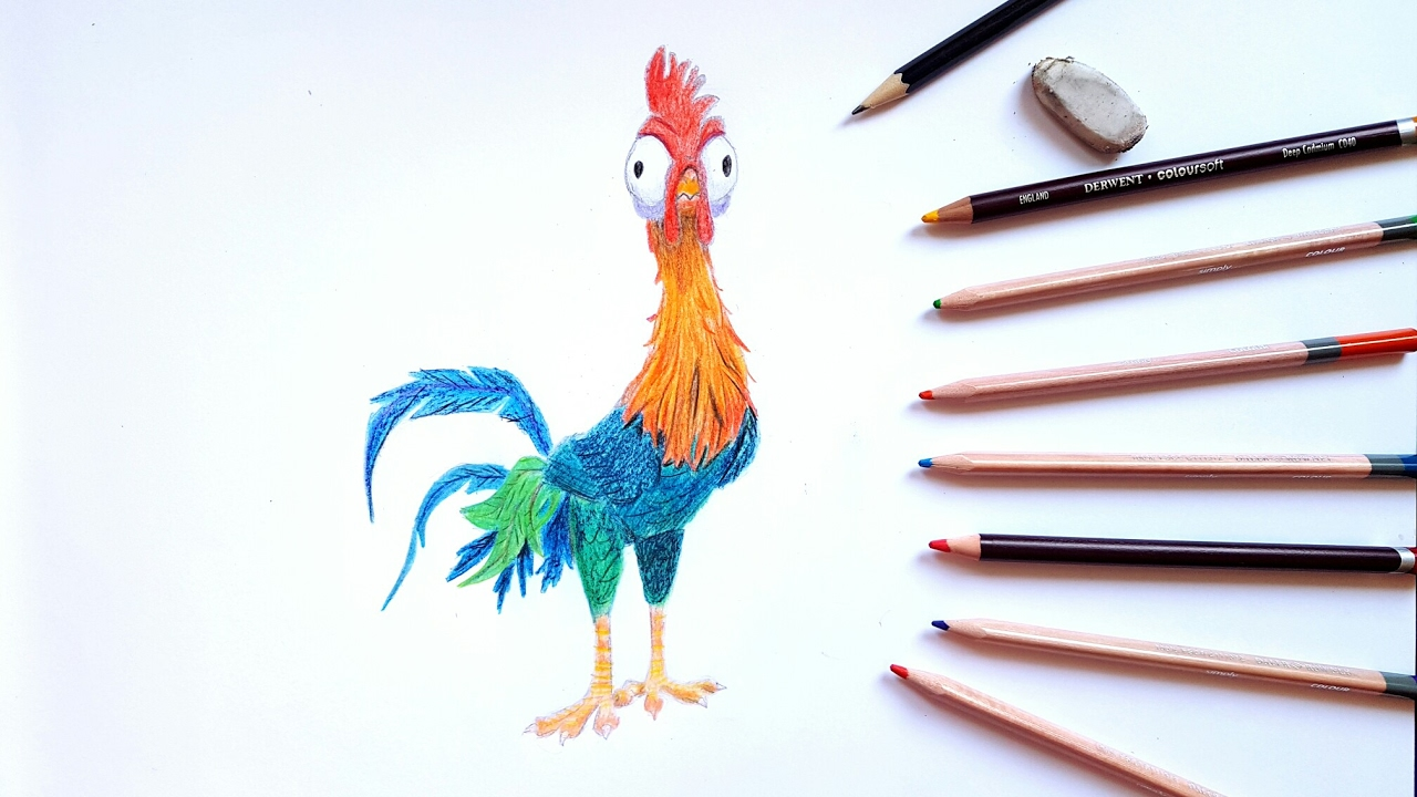 Drawing Hei Hei from Moana - YouTube