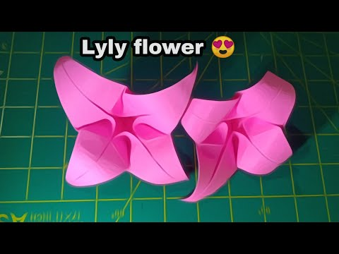 How to make easy LyLy flower /DiY