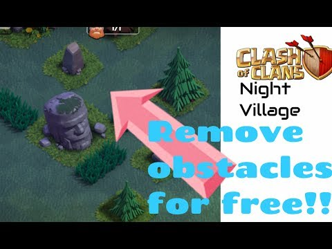 Clash of Clans: How to remove grasses for free in night village?