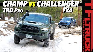 Can the Turbo-Charged Ford Ranger Beat the Best-Selling Toyota Tacoma TRD Pro? Off-Road Smackdown