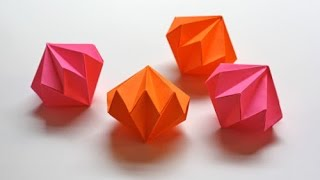 Easy and rich - Origami diamond ornaments. Christmas decoration. Ideas for Christmas