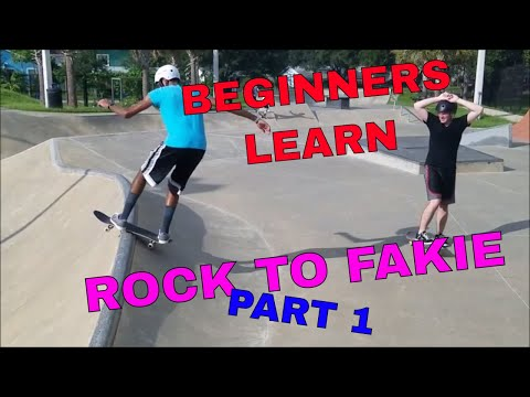 BEGINNERS LEARN ROCK TO FAKIE | PART 1 | BEGINNERS SKATE