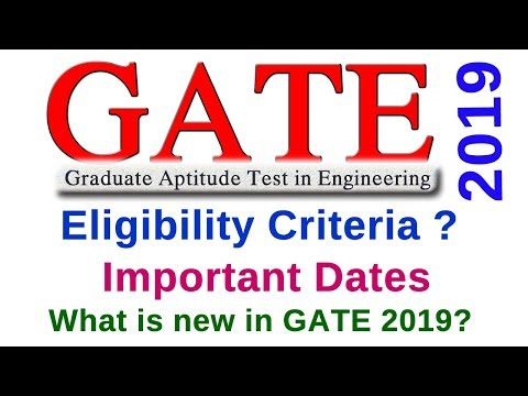 #GATE 2019 DATE OFFICIAL NOTIFICATION WITH IMPORTANT DATES Mp3
