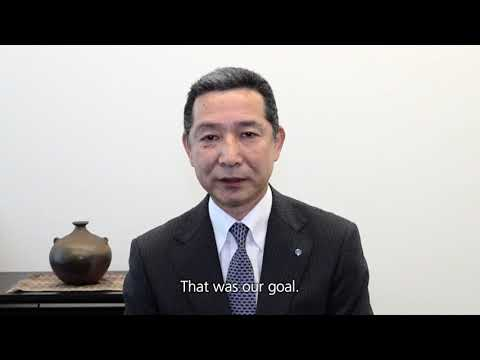 English - YKK achieves sale of 10 billion zippers - Message from Mr. Otani and Mr. Matsushima