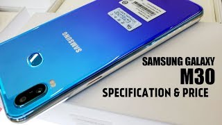 Samsung Galaxy M30 Full Specification, Price || USB TYPE-C, 5000mAh BATTERY!!