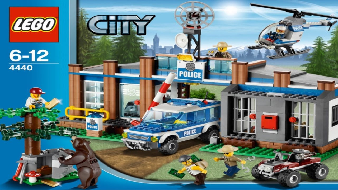 Lego 4440 Forest Police Station City Police Instruction Booklet