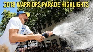 Golden State Warriors championship parade 2018 highlights