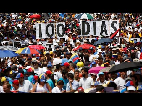 Venezuela opposition marks 100 days of protests