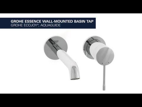 Grohe Essence 2 Hole Basin Faucet A Wall Mounted Faucet In A Subtle Elegant Design