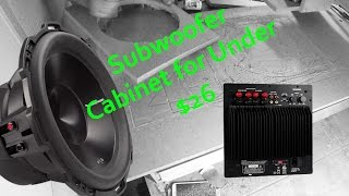 CNC Cutout of Subwoofer Cabinet for Rockford Fosgate P3D4-12 Punch and Dayton Audio 250W Amplifier