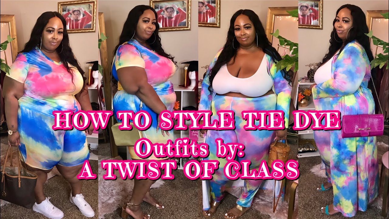 HOW TO STYLE TIE DYE OUTFITS: PLUS SIZE EDITION(BEFORE SUMMER ENDS 😭)