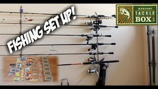 my fishing set up baitcasters spinning reels and rods