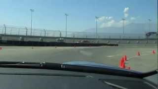 Janine takes a lap in a Porsche Carrera S