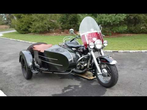 Classic 1955 Harley Panhead Motorcycle & Sidecar