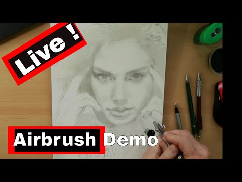 Starting an Airbrush Painting (The Under Painting Stage)