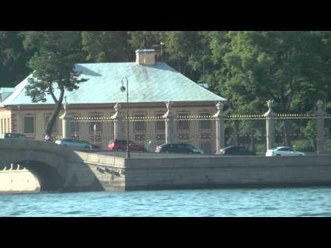 Part 2 of Boat Tour through Central Saint Petersburg, Russia