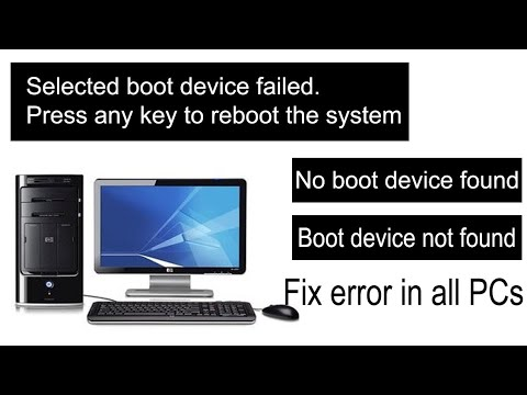 Selected boot device