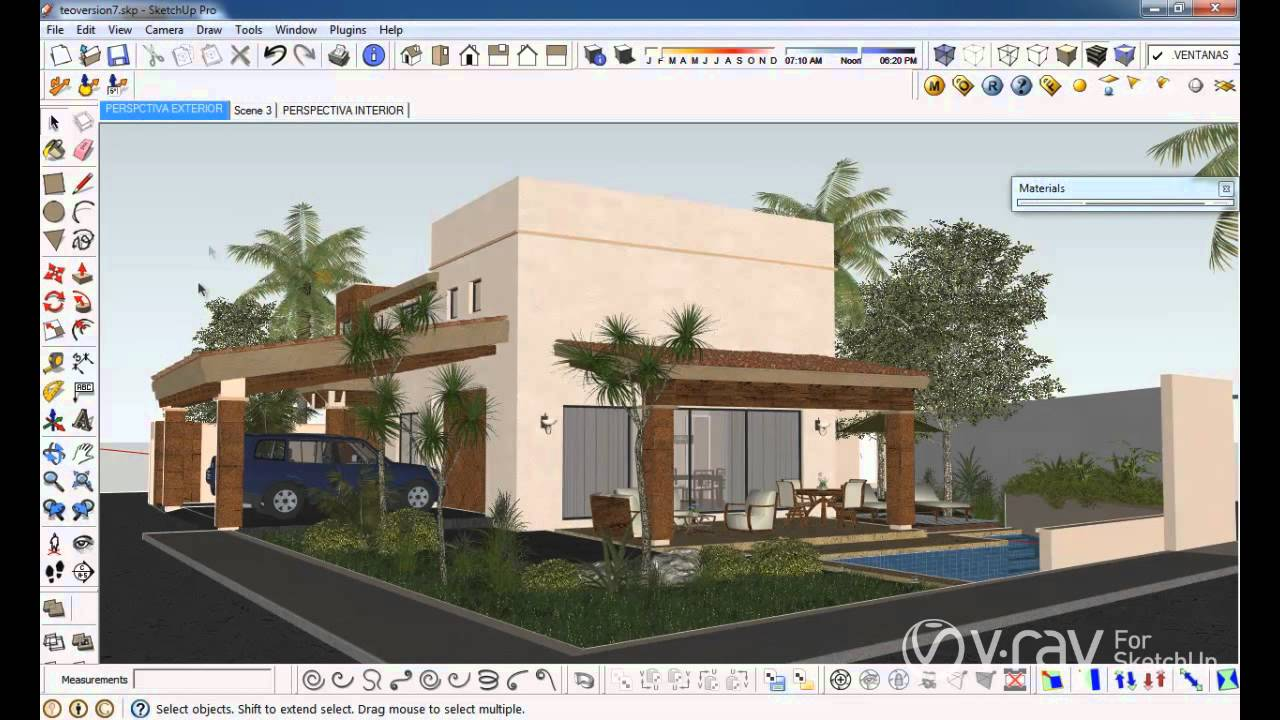V Ray For Sketchup Render To Vrimage Tutorial Youtube