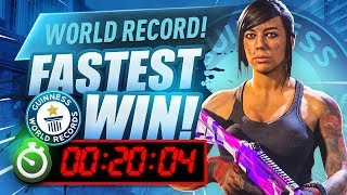 WORLD RECORD FASTEST WARZONE WIN!
