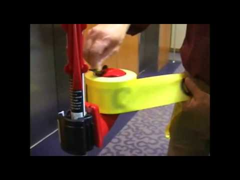 Zipwall Caution Tape Reel System For Dust Barrier Youtube