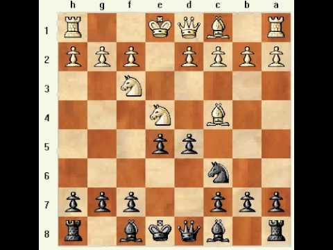 Chess Opening: Four Knights' Game 4.Bc4 Nxe4