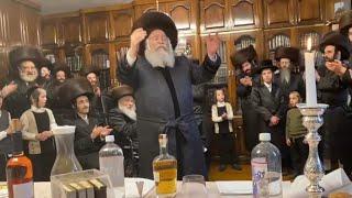 The Rabba Of Bobov Dancing Mitzvah Tantz At A Sheva Bruches