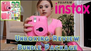 Instax mini 9 unboxing, first shot & review (fujifilm) | Instax 9 Bundle Package
