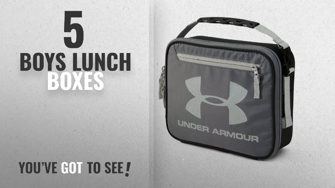 4b0fcfaff6 Best Boys Lunch Boxes [2018]: Under Armour Lunch Cooler, Graphite ...