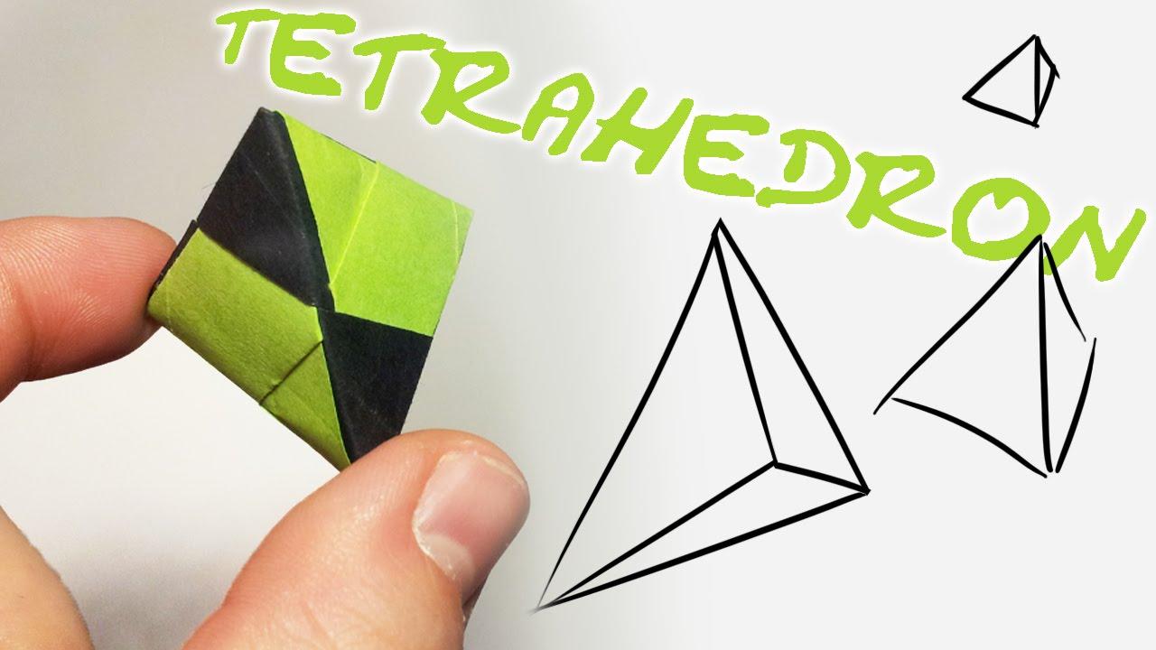 modular origami tetraeder tetrahedron 2 units youtube